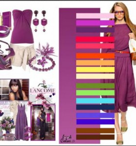 Стильный образ: сочетание фиолетового