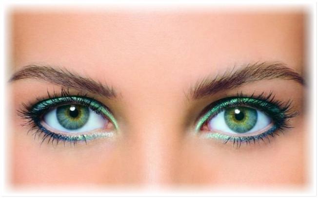 Красивый макияж для зеленых глаз (мастер класс)
