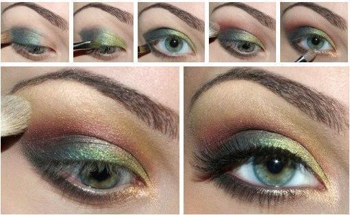 Красивый макияж для серых глаз (мастер класс)