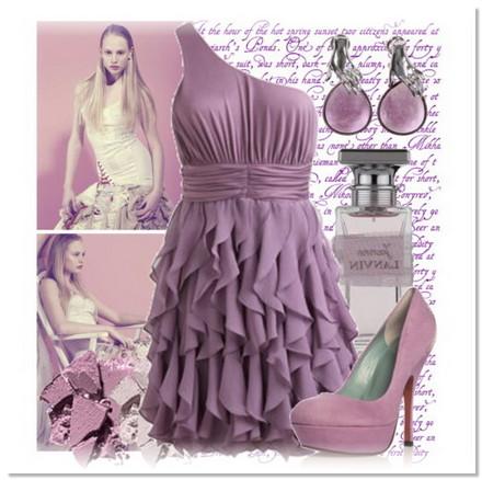 Топ 10 образов:фиолетовое платье