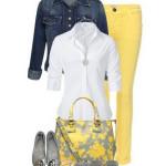 Желтая одежда с чем носить.