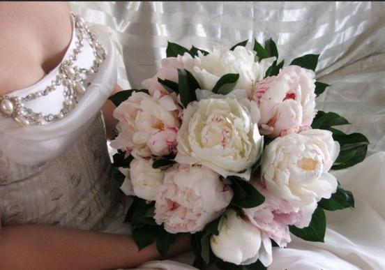 Пионы свадебный букет значение оптовый склад цветов