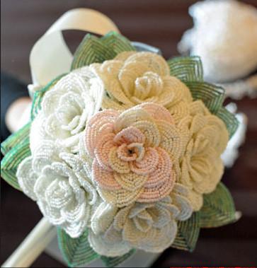 Фото свадебные букеты из бисера