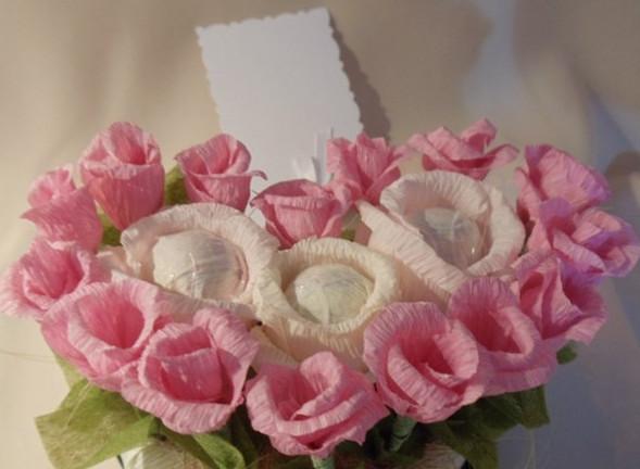 Букет из конфет своими руками розы фото