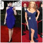 Синее платье: Знаменитости.