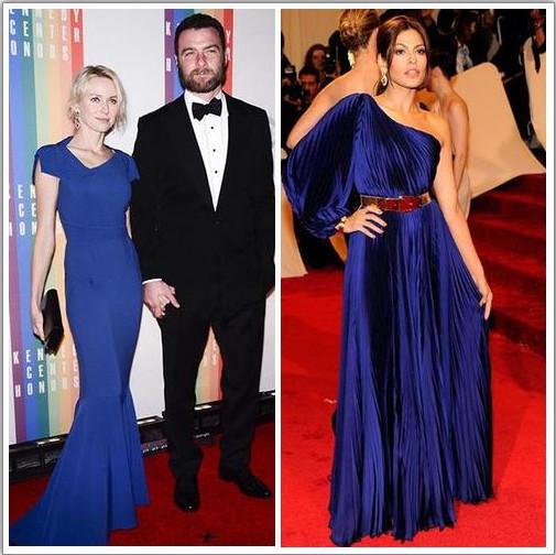 Голубое платье на звездах