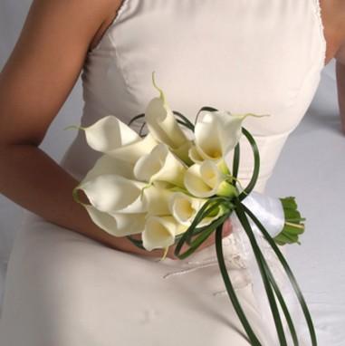 Свадебные букеты из калл для невесты