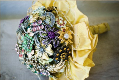 Необычные свадебные букеты, Свадебный букет из ткани, Букета из