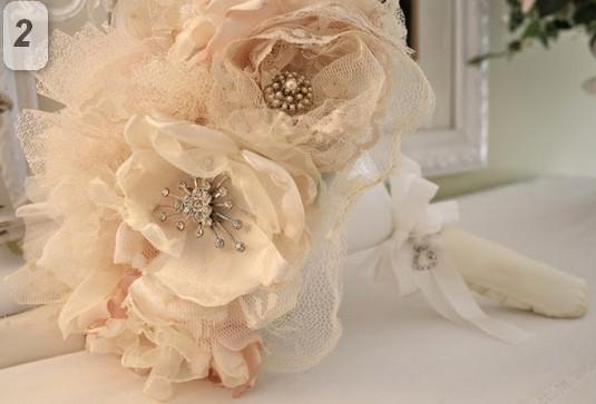 Необычные свадебные букеты своими руками.