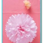 Помпоны из бумаги   украшаем праздник своими руками.