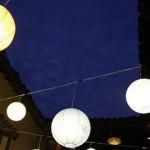 Подвесные фонарики   декор для праздника.