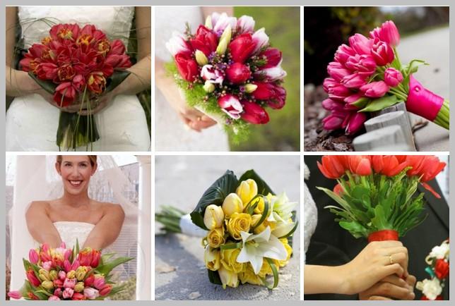 Свадебный букет из тюльпанов