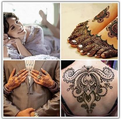 Татуировки хной модный тренд для современных невест.