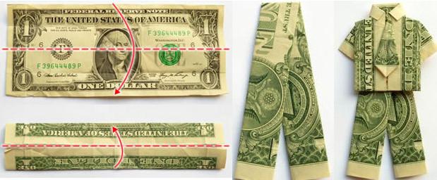 Подарки из денег: Денежная