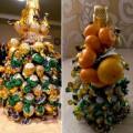 Новогодние подарки своими руками: мастер-класс «Ёлочка из конфет»